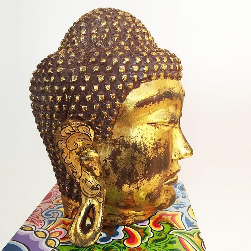 tete de Bouddha-L sur Socle. Edition Limitée