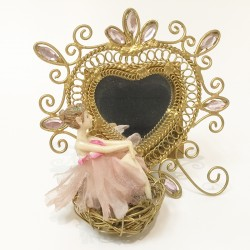Fairy in nest mirror frame