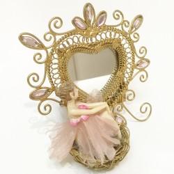 Fairy in nest mirror frame