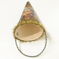 petit cornet décoré avec haut or