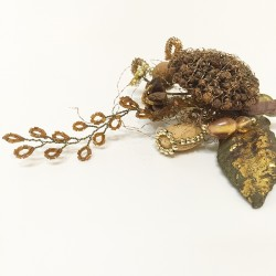 Clip on ornament silver/gold