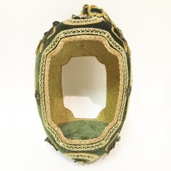 Faberge egg display Green