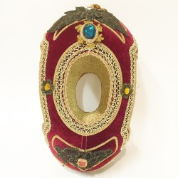 Faberge egg display Red