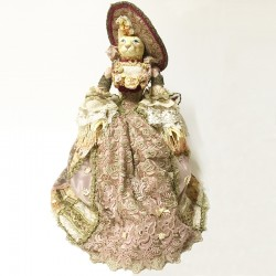 Cat shabby chic doll Annabelle rose